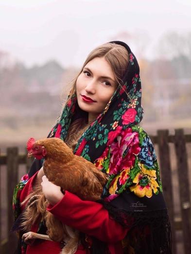 фотосессия с курицей